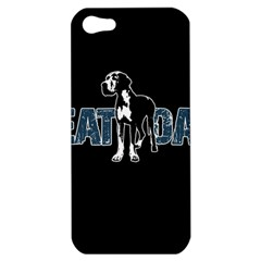 Great Dane Apple Iphone 5 Hardshell Case by Valentinaart