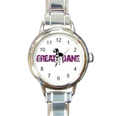 Great Dane Round Italian Charm Watch