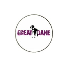 Great Dane Hat Clip Ball Marker (4 Pack) by Valentinaart