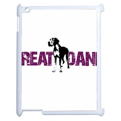 Great Dane Apple Ipad 2 Case (white) by Valentinaart