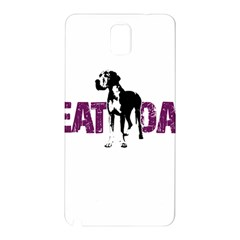 Great Dane Samsung Galaxy Note 3 N9005 Hardshell Back Case by Valentinaart