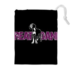 Great Dane Drawstring Pouches (extra Large) by Valentinaart