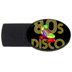 Roller Skater 80s Usb Flash Drive Oval (2 Gb) by Valentinaart