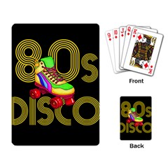 Roller Skater 80s Playing Card by Valentinaart