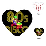 Roller Skater 80s Playing Cards (Heart)  Front