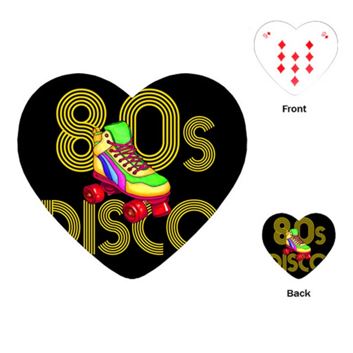Roller Skater 80s Playing Cards (Heart)