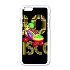 Roller Skater 80s Apple Iphone 6/6s White Enamel Case by Valentinaart