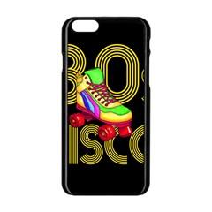Roller Skater 80s Apple Iphone 6/6s Black Enamel Case by Valentinaart