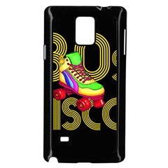 Roller Skater 80s Samsung Galaxy Note 4 Case (black) by Valentinaart