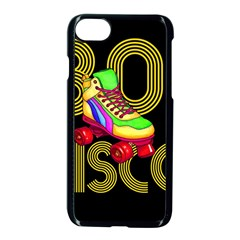 Roller Skater 80s Apple Iphone 7 Seamless Case (black) by Valentinaart