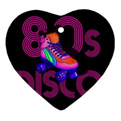 Roller Skater 80s Heart Ornament (two Sides) by Valentinaart