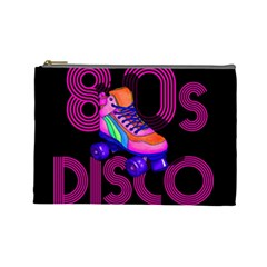 Roller Skater 80s Cosmetic Bag (large)  by Valentinaart