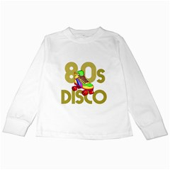 Roller Skater 80s Kids Long Sleeve T Shirts by Valentinaart