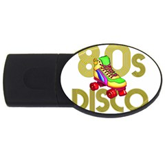 Roller Skater 80s Usb Flash Drive Oval (4 Gb) by Valentinaart