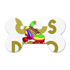 Roller Skater 80s Dog Tag Bone (two Sides) by Valentinaart