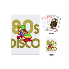 Roller Skater 80s Playing Cards (mini)  by Valentinaart