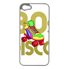 Roller Skater 80s Apple Iphone 5 Case (silver) by Valentinaart