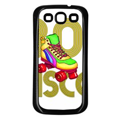 Roller Skater 80s Samsung Galaxy S3 Back Case (black) by Valentinaart