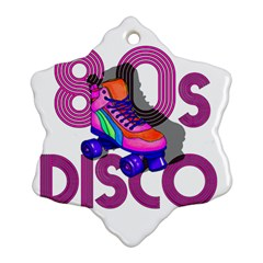 Roller Skater 80s Ornament (snowflake) by Valentinaart