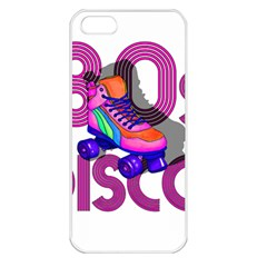 Roller Skater 80s Apple Iphone 5 Seamless Case (white) by Valentinaart