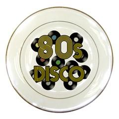 80s Disco Vinyl Records Porcelain Plates by Valentinaart