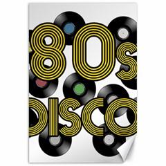 80s Disco Vinyl Records Canvas 20  X 30   by Valentinaart