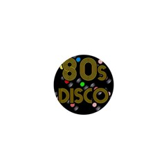 80s Disco Vinyl Records 1  Mini Buttons by Valentinaart