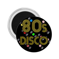 80s Disco Vinyl Records 2 25  Magnets by Valentinaart
