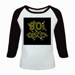 80s Disco Vinyl Records Kids Baseball Jerseys by Valentinaart