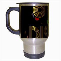 80s Disco Vinyl Records Travel Mug (silver Gray) by Valentinaart