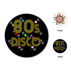 80s Disco Vinyl Records Playing Cards (round)  by Valentinaart