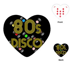 80s Disco Vinyl Records Playing Cards (heart)  by Valentinaart