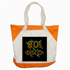 80s Disco Vinyl Records Accent Tote Bag by Valentinaart