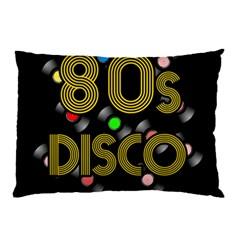 80s Disco Vinyl Records Pillow Case by Valentinaart