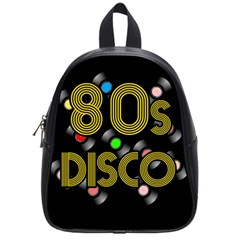 80s Disco Vinyl Records School Bags (small)  by Valentinaart