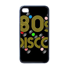 80s Disco Vinyl Records Apple Iphone 4 Case (black) by Valentinaart