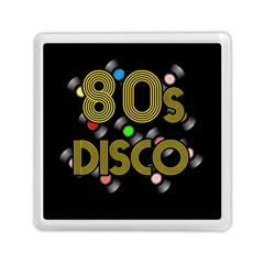 80s Disco Vinyl Records Memory Card Reader (square)  by Valentinaart