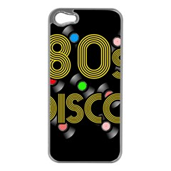 80s Disco Vinyl Records Apple Iphone 5 Case (silver) by Valentinaart