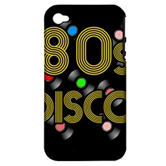 80s Disco Vinyl Records Apple Iphone 4/4s Hardshell Case (pc+silicone) by Valentinaart