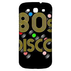 80s Disco Vinyl Records Samsung Galaxy S3 S Iii Classic Hardshell Back Case by Valentinaart