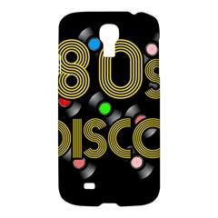 80s Disco Vinyl Records Samsung Galaxy S4 I9500/i9505 Hardshell Case by Valentinaart