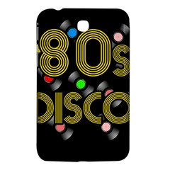 80s Disco Vinyl Records Samsung Galaxy Tab 3 (7 ) P3200 Hardshell Case  by Valentinaart