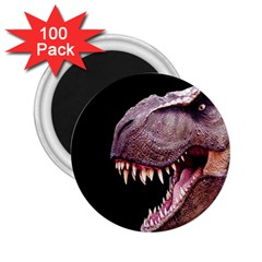 Dinosaurs T Rex 2 25  Magnets (100 Pack)  by Valentinaart