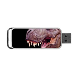 Dinosaurs T Rex Portable Usb Flash (one Side) by Valentinaart