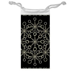 Ornate Chained Atrwork Jewelry Bag by dflcprints