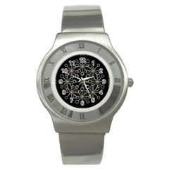 Ornate Chained Atrwork Stainless Steel Watch by dflcprints
