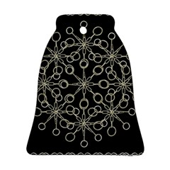 Ornate Chained Atrwork Bell Ornament (two Sides) by dflcprints
