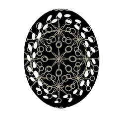 Ornate Chained Atrwork Oval Filigree Ornament (two Sides) by dflcprints