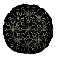 Ornate Chained Atrwork Large 18  Premium Round Cushions by dflcprints
