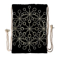 Ornate Chained Atrwork Drawstring Bag (large) by dflcprints